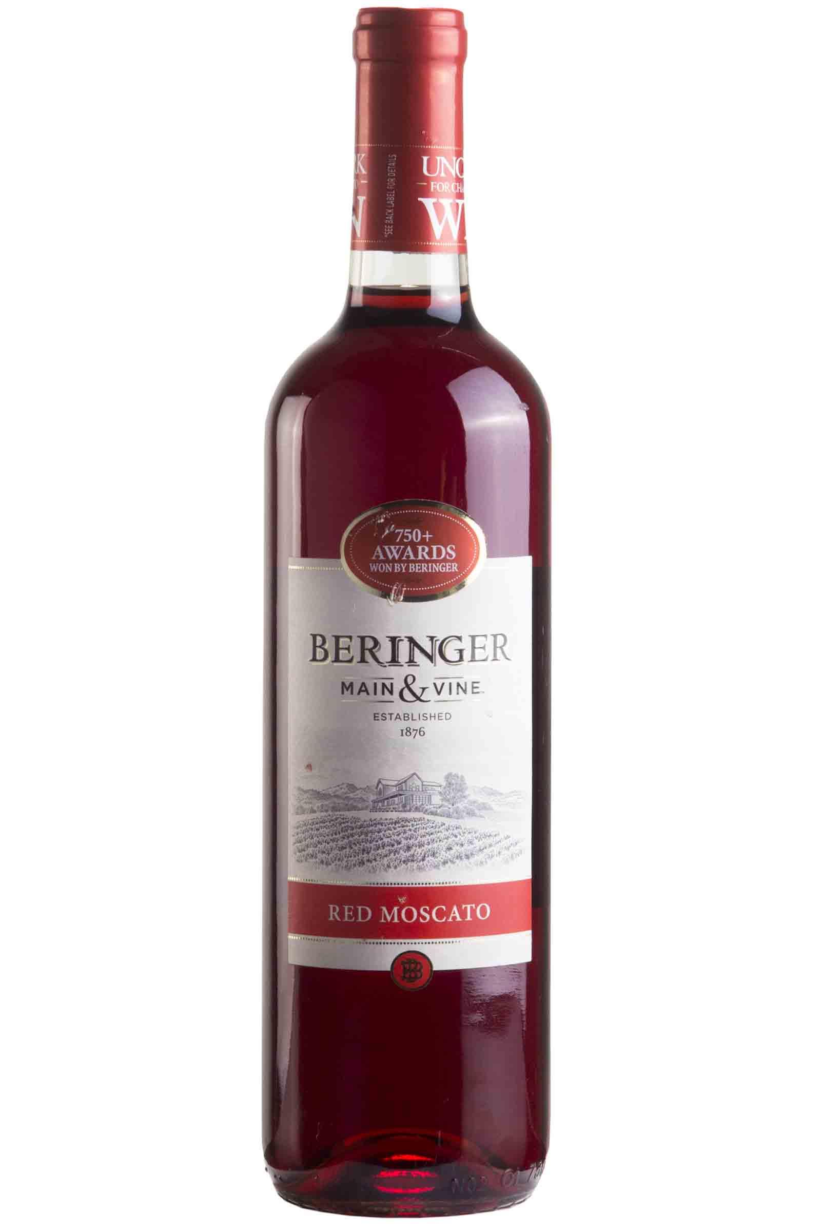 Vino Beringer Main & Wine Red Moscato 750ml