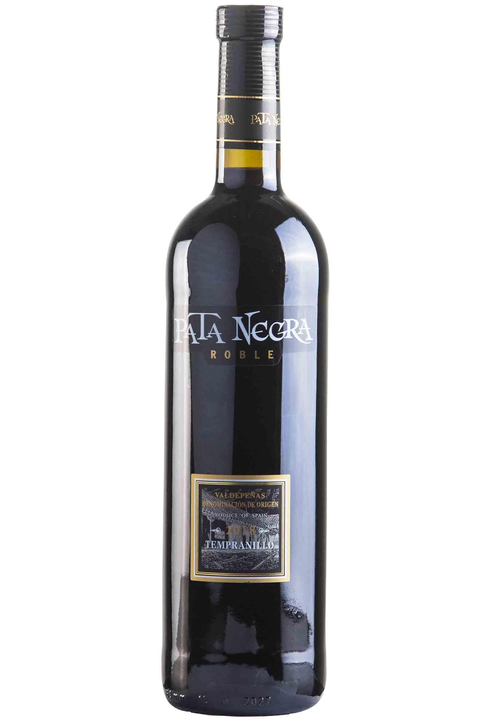 Vino Pata Negra Valdepeñas Roble 750ml