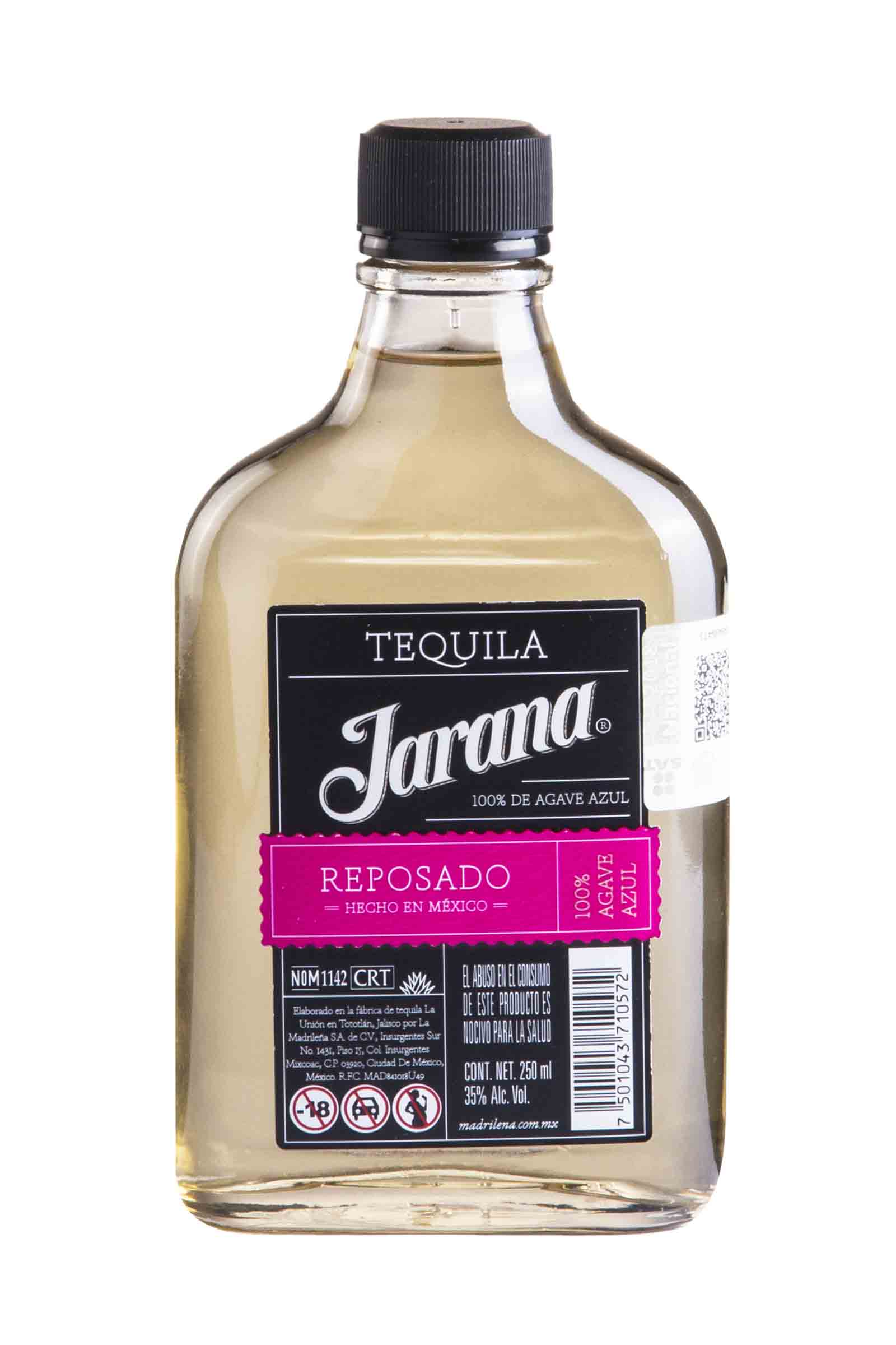 Tequila Jarana Reposado 100% Agave 250ml