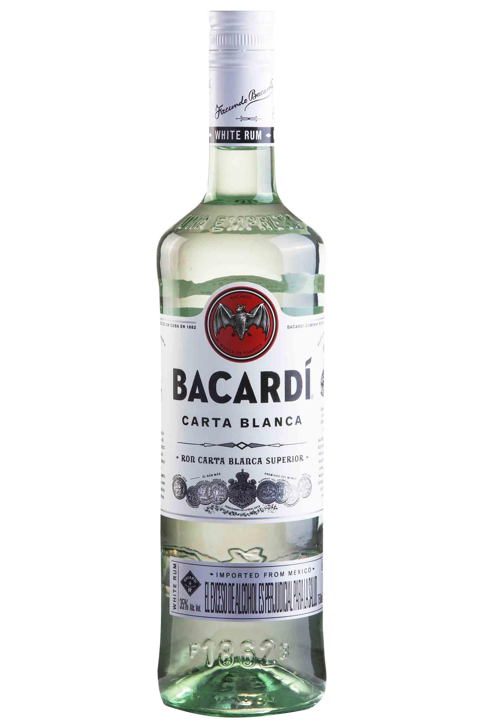 Ron Bacardi Carta Blanca 750ml