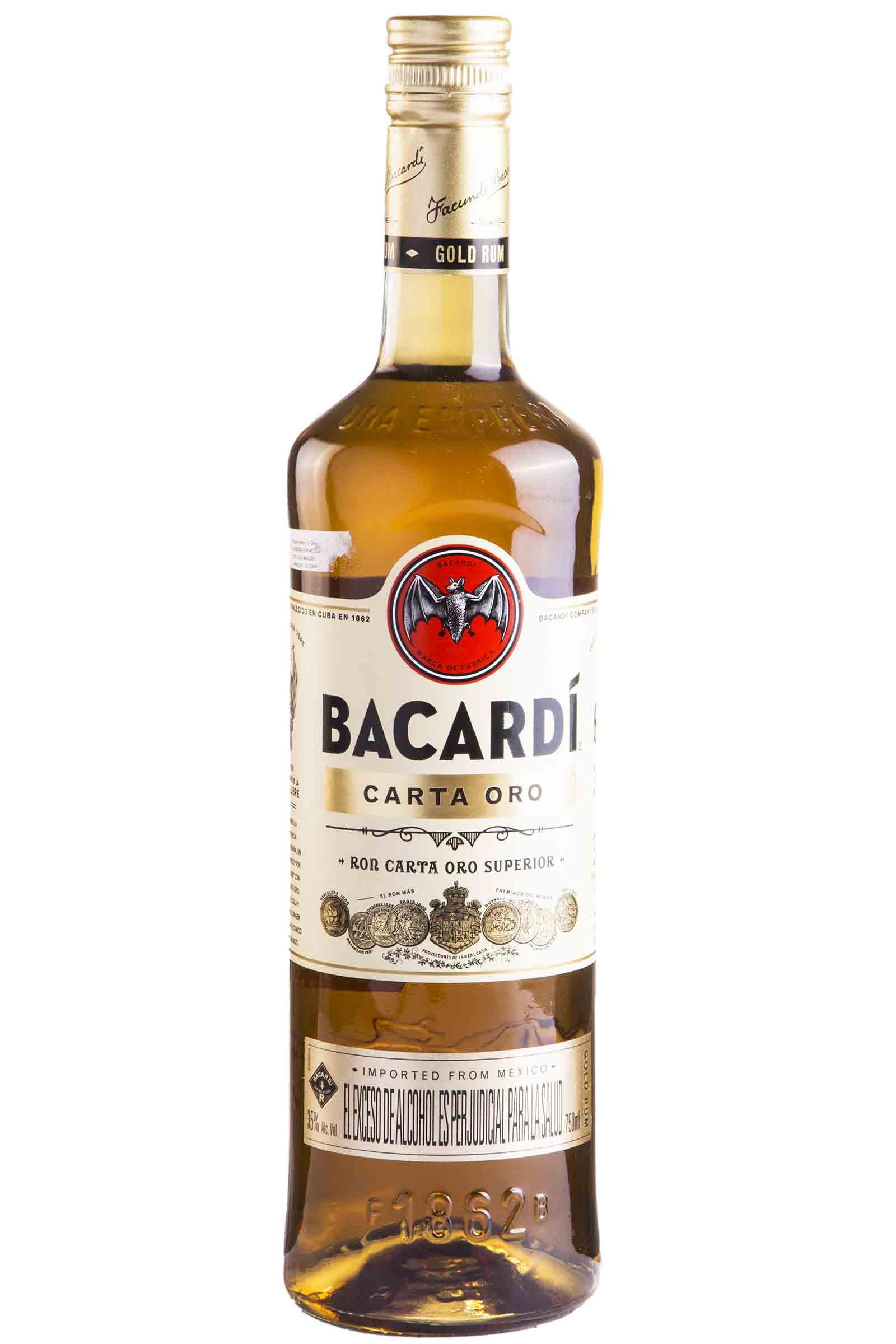 Ron Bacardi Carta Oro 750ml