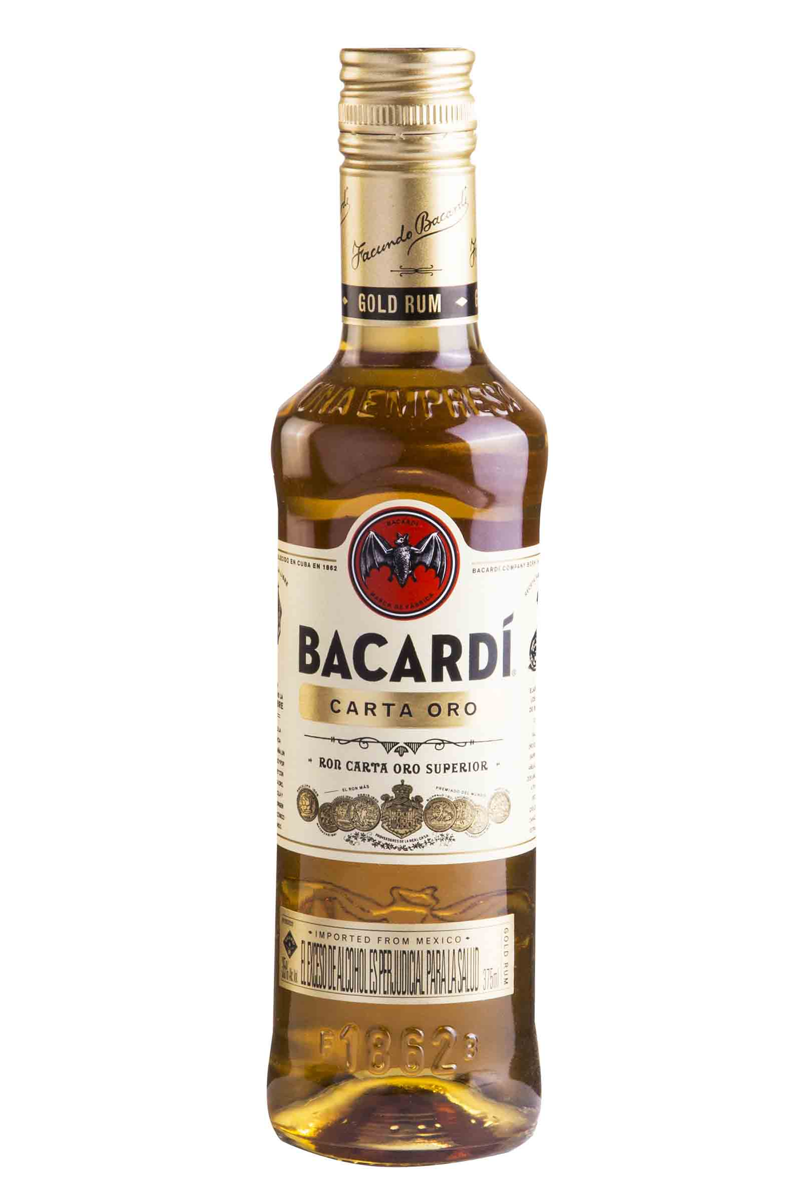 Ron Bacardi Carta Oro 375ml