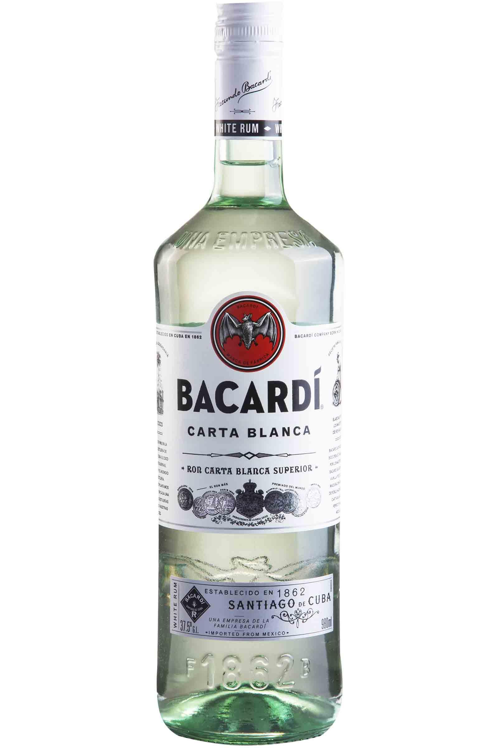 Ron Bacardi Carta Blanca 980ml