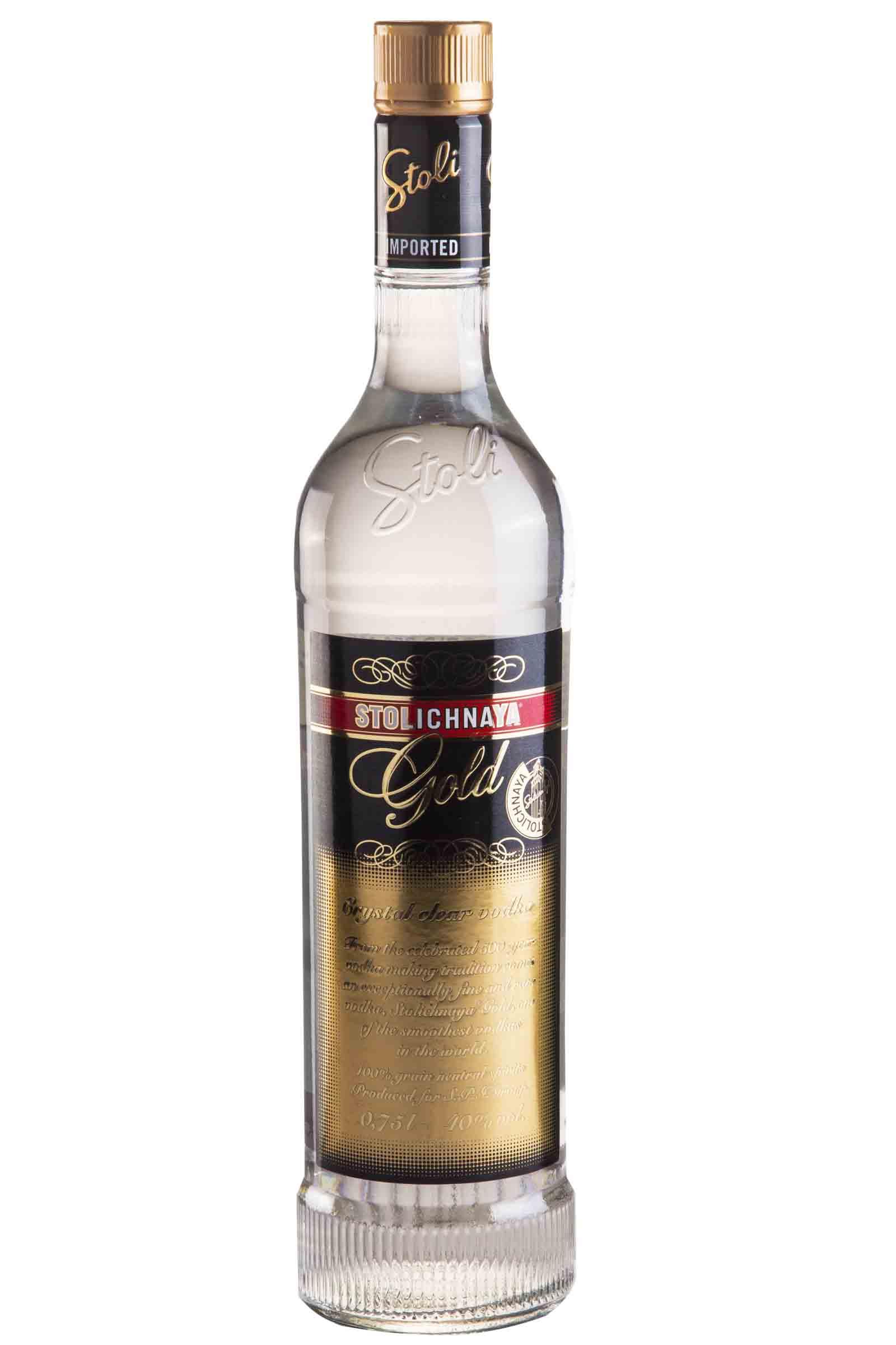 Vodka Stolichnaya Gold 750ml