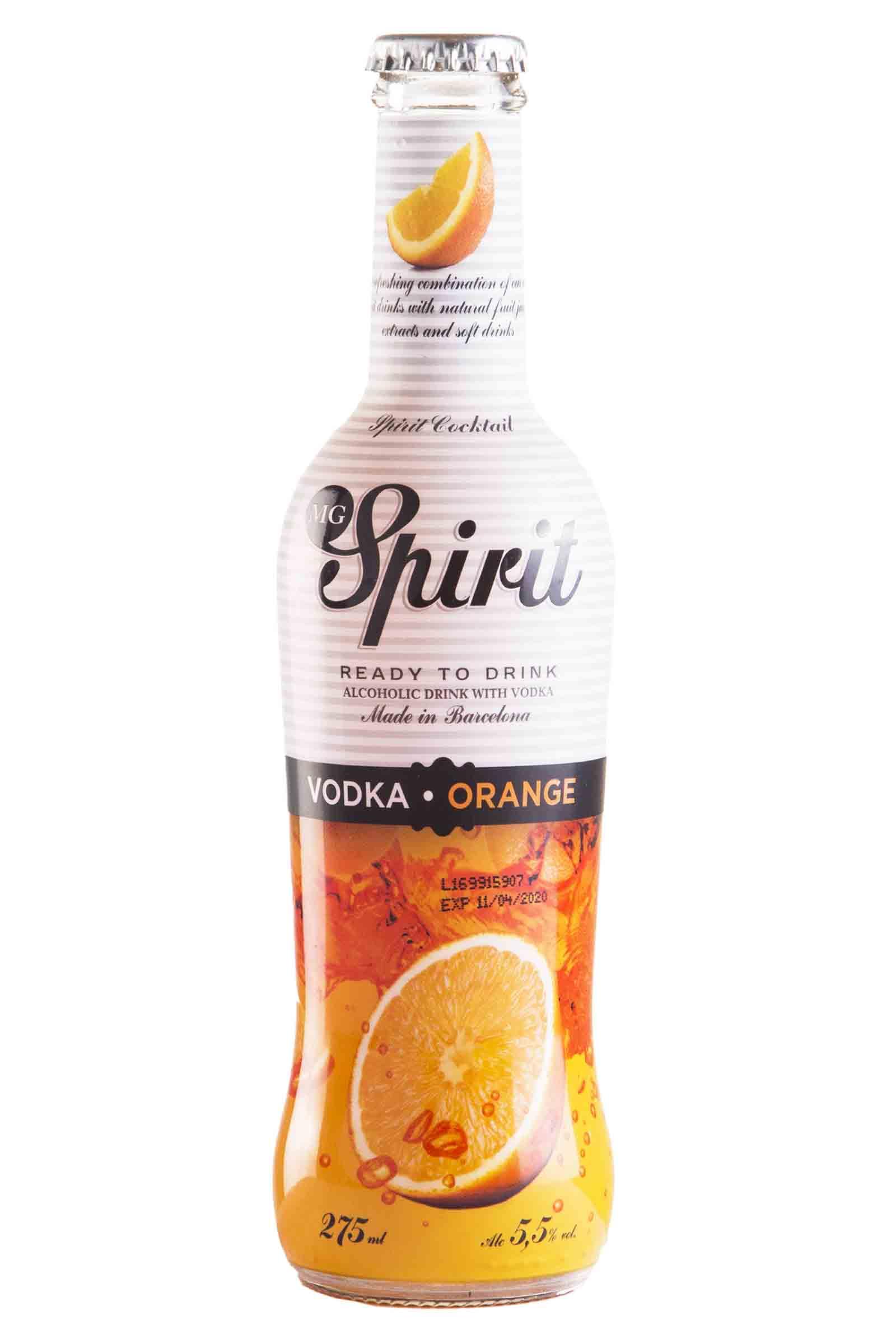 MG Spirits Vodka Naranja 275ml
