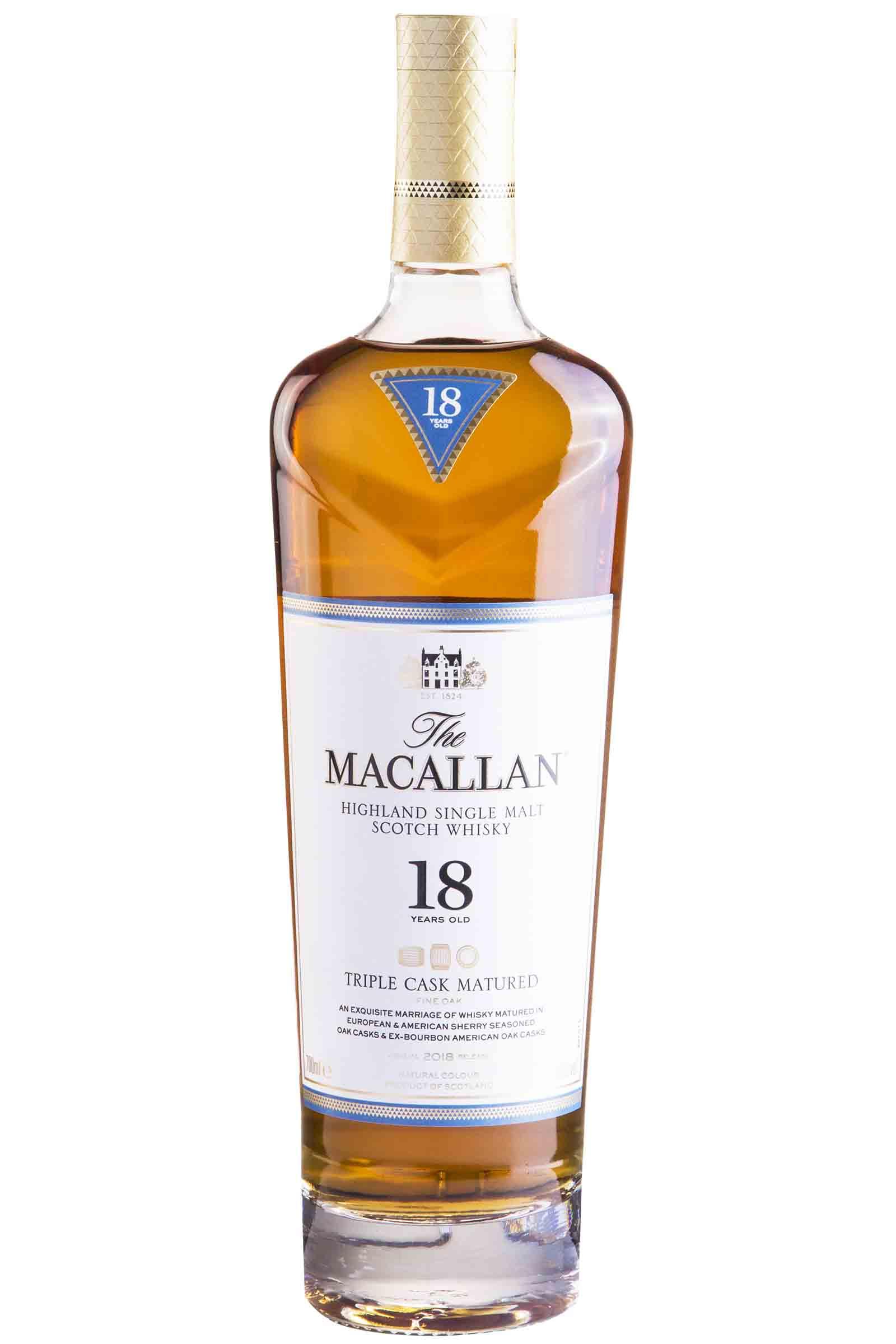 Whisky Macallan Triple Cask 18 años 750ml