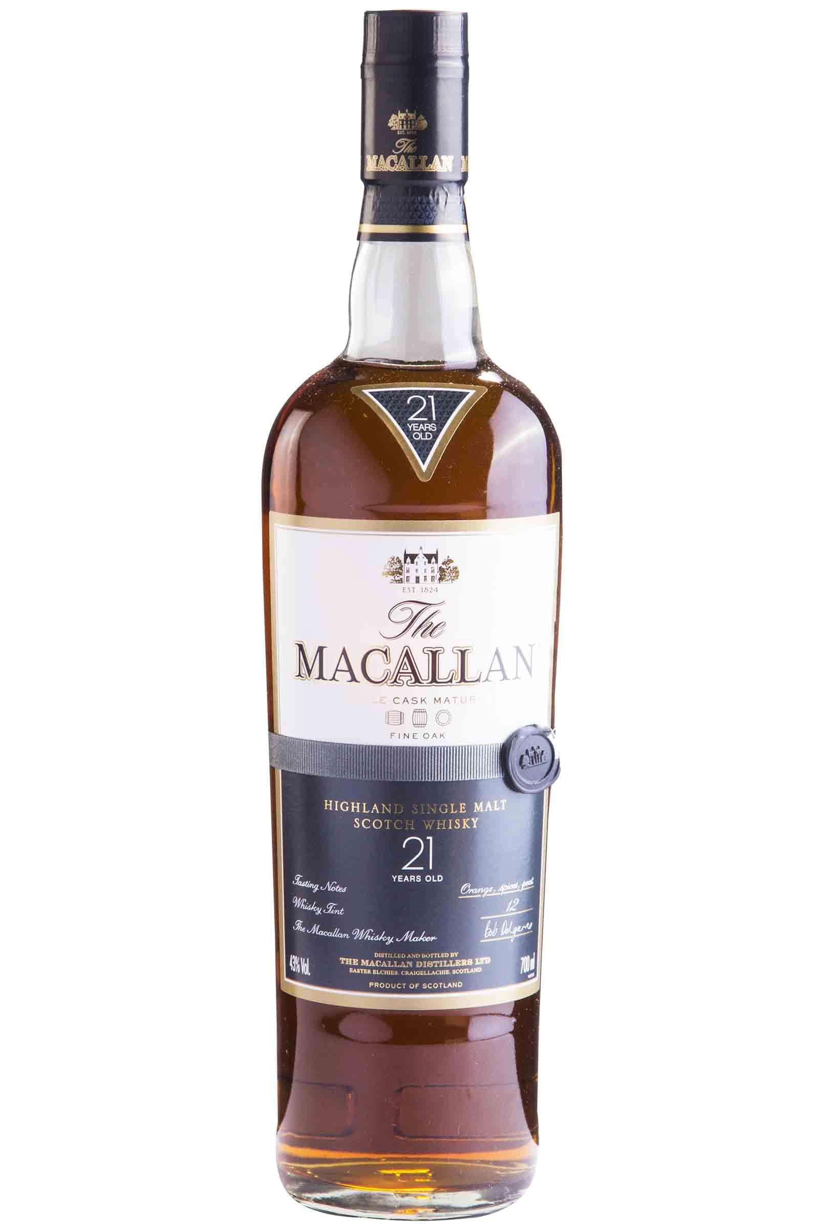 Whisky Macallan Fine Oak 21 Años 700ml