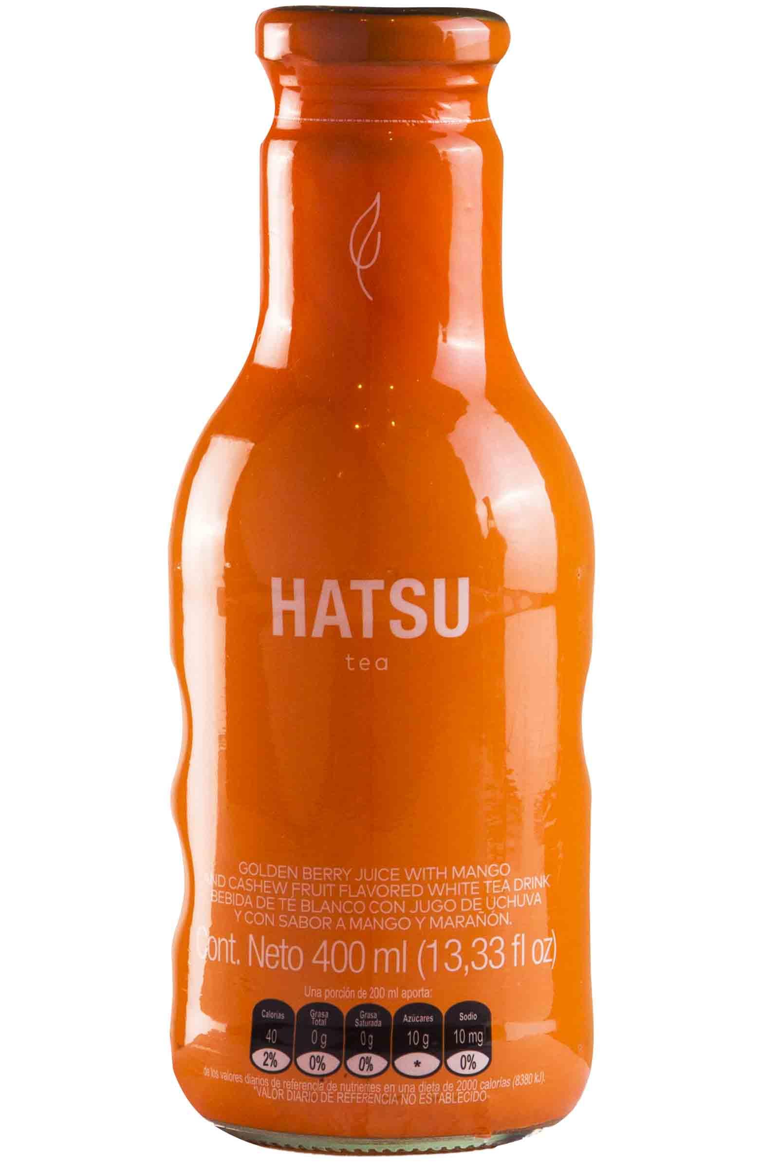 Hatsu Té Naranja Sabor Mango y Marañon 400ml