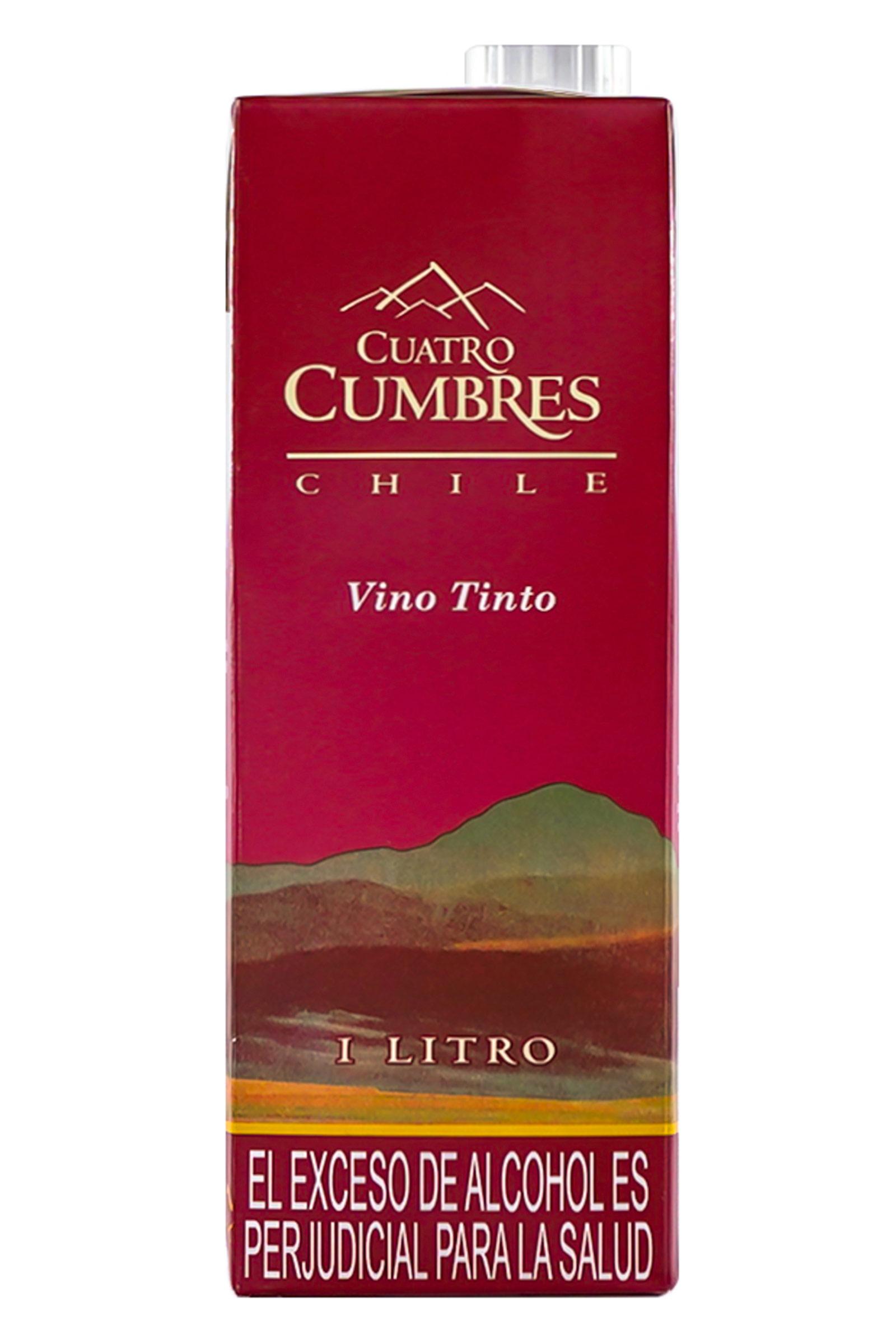 Vino Cuatro Cumbres Tetra Tinto 1000ml