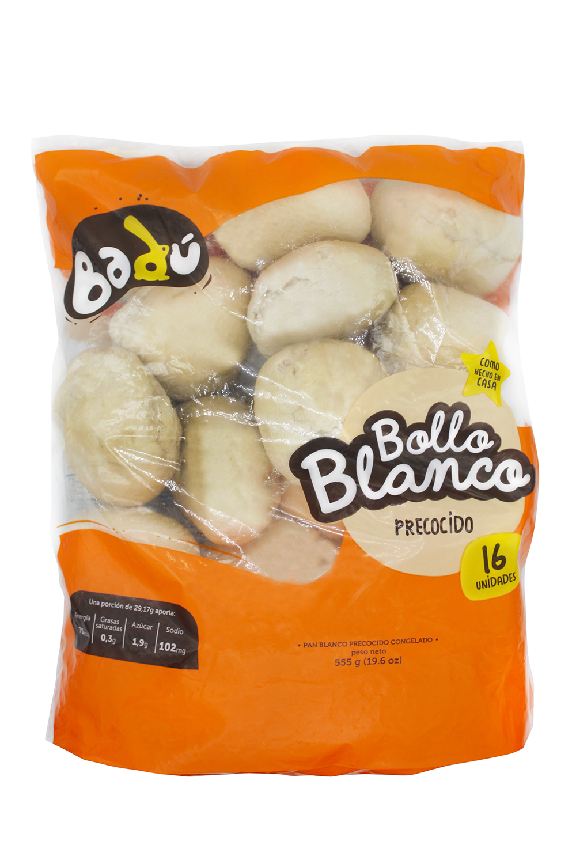 Pan Bollo Badu Precocido Congelado 16 Unidades