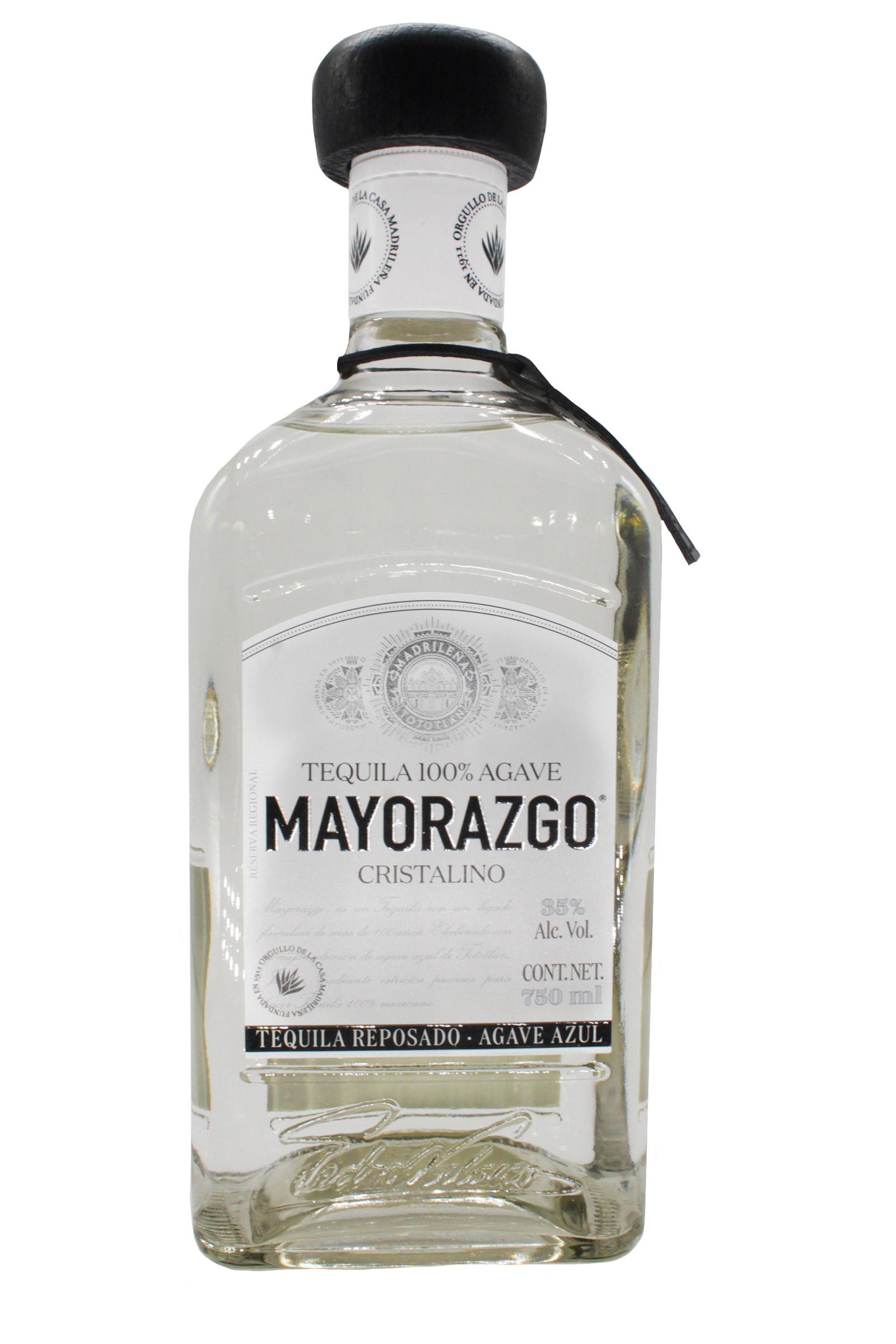 Tequila Mayorazgo Reposado Cristalino 100% Agave 750ml