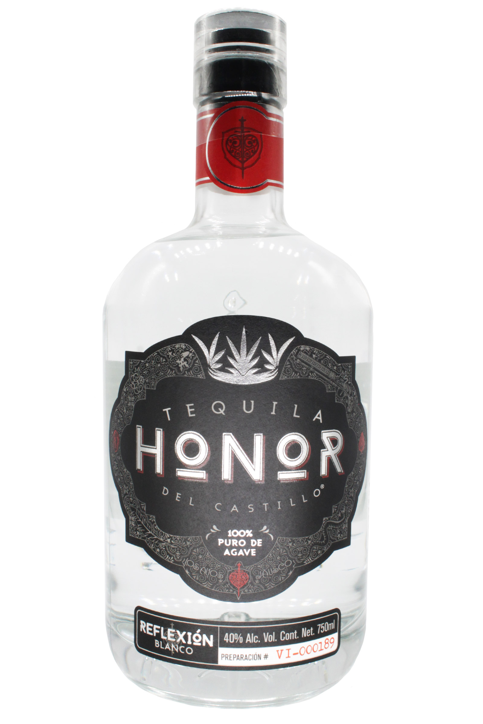 Tequila Honor Reflexión Blanco 100% Agave 750ml
