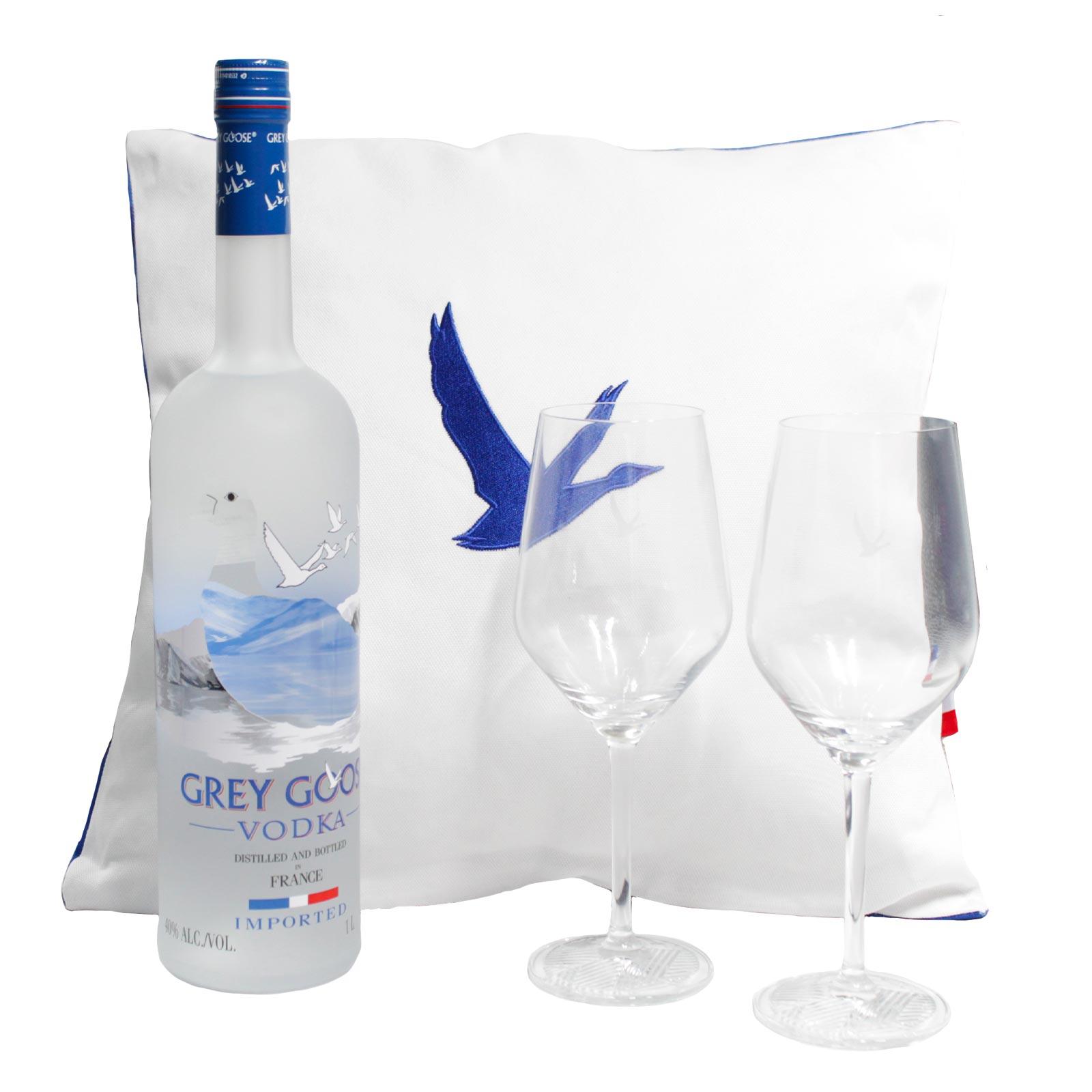 Kit Grey Goose + Copas y Cojín